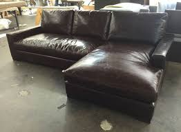 Leather Sofa With Chaise Braxton Leather Sofa Chaise Sectional In Brompton Cocoa Mocha