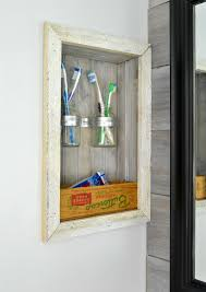 Bathroom Countertop Storage by Build A Storage Shelf In The Wall U0026 Save Counter Space Refresh