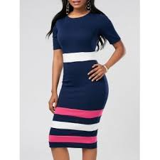 work color block dress cheap casual style online free shipping at