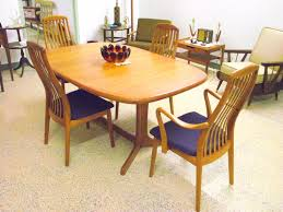 teak dining room furniture kitchen table and chairs manchester elegant mid century modern