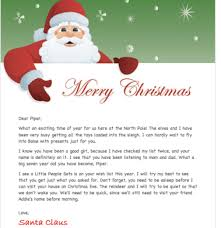 personalized letter from santa free personalized letter from santa or personalized