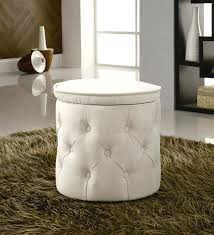 target round tufted storage ottoman tag round upholstered storage