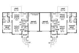 37 one story duplex house plans single story 3 br 2 bath duplex