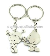 baby keychain hot sell unique zinc alloy metal paired key chain