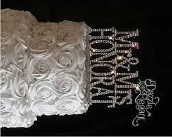 rhinestone number cake toppers mr mrs name rhinestone wedding cake topper