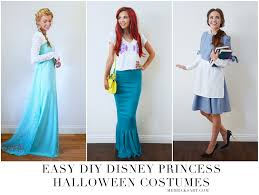 homemade halloween diy disney princess halloween costumes