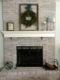 Simple Fireplace Designs by Decor Whitewash Brick For Traditional Simple Fireplace Design