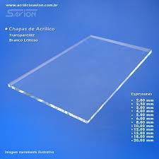 Common Chapas em acrilico transparente, 6mm de espessura tamanho 1x2 metros &HR61