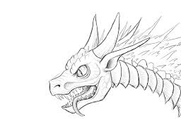 drawn fire dragon breathing pencil and in color drawn fire