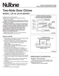 wiring doorbell chime 2 note nutone doorbell wiring diagram