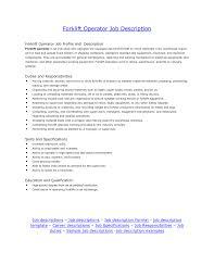 resume job duties examples cover letter warehouse forklift operator job description job cover letter overview of jobs legendary baking pwarehouse forklift operator job description extra medium size