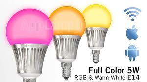 5 watt light bulbs appl set of 8 rgbw 5 watt e14 led light bulbs remote control