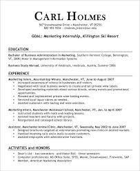 Marketing Intern Resume Sample by 23 Marketing Resume Templates Free U0026 Premium Templates