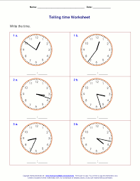 telling time worksheets to the minute worksheets