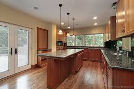 Kitchen Cherry Cabinets by Green Wall Kitchen Colors With Cherry Cabinets U2014 Desjar Interior