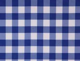 checkered tablecloth blue white square shaped cover throughout