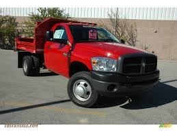 2009 dodge ram 3500 st regular cab 4x4 chassis dump truck in flame