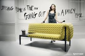 Home Decor Ads Fun Tag Lines And Morphing Of Fashion With Furniture Gives The