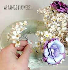 paper flower centerpieces diy paper flower centerpiece plucking daisies