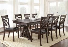 Silver Dining Table And Chairs Steve Silver Adrian 9 Piece Table And Chair Set With 18