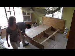 How To Make A Platform Bed With Plywood by Homemade Platform Bed Youtube