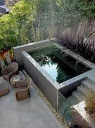 landscaping and outdoor building plunge pool designs modern
