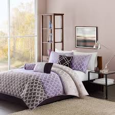 Purple And Green Bedding Sets Bedroom Unique White And Purple Bedding Comforter Set Featuring
