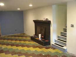 Cheap Basement Flooring Ideas Best Paint For Basement Floor Has Painting Concrete Floor In
