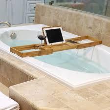 bronze bathtub caddy welland industries llc bamboo bathtub caddy reviews wayfair