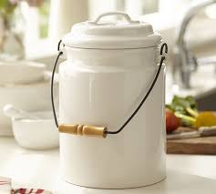 compost canister kitchen compost bin pottery barn