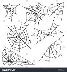 halloween background black spider web vector illustration halloween spider web isolated stock vector
