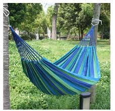 large canvas nylon hammock hang sleeping bed outdoor camping