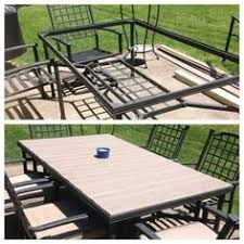 Glass Replacement Patio Table Collected Society Diy Patio Table Top Tutorial After Glass Table