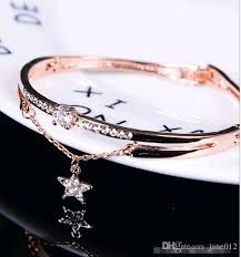 luxury chain bracelet images Luxury chain bracelet diamond stars screw nail rose gold korean jpg