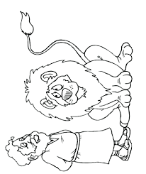 daniel in the lions den bible coloring pages colouring sheets