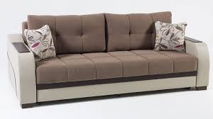 furniture brown velvet sofa bed with storage and floral pattern