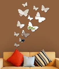 wall1ders 3d acrylic mirror butterflies wall sticker buy wall1ders 3d acrylic mirror butterflies wall sticker