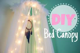 How To Hang Curtains Around Bed by Diy Bed Canopy Room Decor Youtube