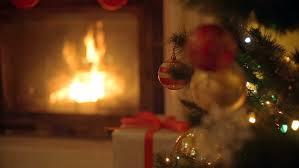 merry christmas beautiful video with animated fireplace xmas tree