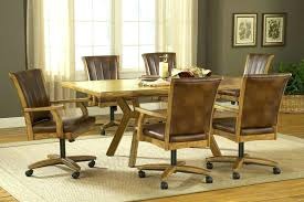 kitchen table and chairs with casters dining chairs casters aboutyouspace dining chairs on casters dining