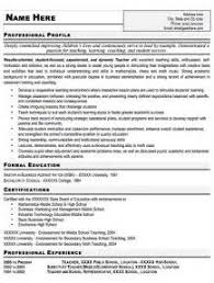 teaching professional resume professional resume cover letter