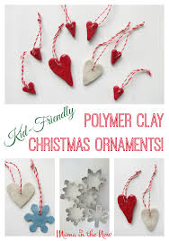 kid friendly polymer clay ornaments