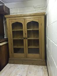 Glass Fronted Sideboards Vintage Pine Glass Fronted Display Unit Display Cabinets