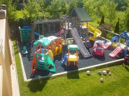 Backyard Foam Pit A Little Too Busy But I Love The Spongy Foam Ground Home