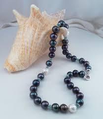 white pearls necklace designs images Designer pearl necklace of black and white pearls with apatite jpg