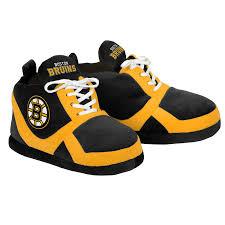 boston bruins home decor amazon com nhl boston bruins 2015 sneaker slipper medium black