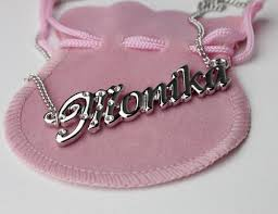 Gold Plated Necklace With Name 18 Karat Gold Plated Name Necklace Monika