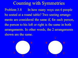 round table number of seats introduction to probability and counting ppt video online download