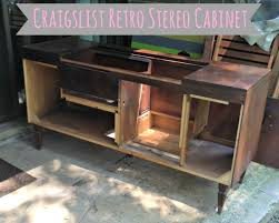 Record Player Cabinet Plans From Speakers To Wine Rack Transforming Our Retro Stereo Cabinet