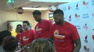 miami heat usher in thanksgiving with block turkey giveaway